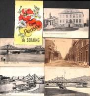 Seraing - Petit Lot Sympa 6 Cartes (Pont, Rue Chapuis, Une Pensée) - Seraing