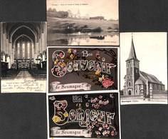 Soumagne - Petit Lot Sympa 5 Cartes (souvenir, Bonjour, église, étang Château, Chapelle) - Soumagne