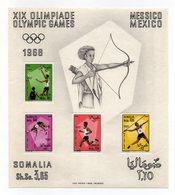 Somalia - 1968 - Foglietto XIX^ Olimpiadi Messico - 4 Valori - Nuovo - Vedi Foto - (FDC14088) - Somalia (1960-...)