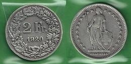 SVIZZERA 1920 - Helvetia - 2 Fr / CHF - B / BB  - Argento / Argent / Silver - Confezione In Bustina - Svizzera