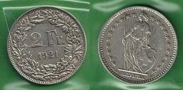 SVIZZERA 1921 - Helvetia - 2 Fr / CHF - BB / SPL  - Argento / Argent / Silver - Confezione In Bustina - Svizzera