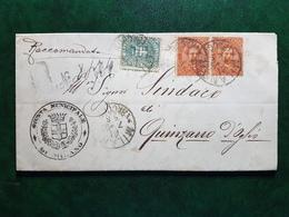 (15459) STORIA POSTALE ITALIA 1892 - 1878-00 Umberto I