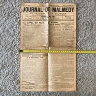 JOURNAL DE MALMEDY ET DE L'EST DE LA BELGIQUE DU 17 NOVEMBRE 1945, Nr 42 - Unclassified