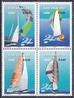 San Marino 2001 Sport Segeln Sailing Schiffe Ships Segelschiffe Segelboote Sailboats Regatta Jachten, Mi. 1934-7 ** - Saint-Marin