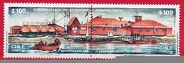 CILE CHILE MNH - 1987 40th Anniversary Of Captain Arturo Prat Antarctic Naval Base - 2 X 100 $ - Michel CL 1171-1172 - Cile