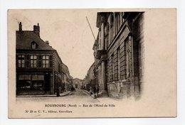- CPA BOURBOURG (59) - Rue De L'Hôtel-de-Ville 1906 - Edition U. V. N° 29 - - Autres Communes
