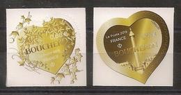 """2 Timbres Adhésifs """"Coeurs BOUCHERON"""" - (Lierre à 0,88 € Et Monnaie à 1,76 €) ** (2019) - France"""
