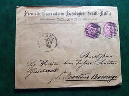 (15463) STORIA POSTALE ITALIA 1888 - 1878-00 Humbert I