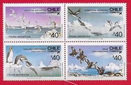 CILE CHILE MNH - 1986 Antarctic Fauna - Sea Birds - 4 X 40 $ - Michel CL 1139-1142 - Cile