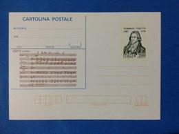 1982 ITALIA CARTOLINA POSTALE NUOVA NEW MNH** TOMMASO TRAETTA - Entiers Postaux