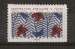 "Timbre Adhésif ""Inspiration Africaine - Tissu"" ** (2019) - France"