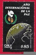 CILE CHILE MNH - 1986 International Peace Year - 85 $ - Michel CL 1152 - Cile
