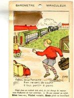 CARTE TRANSPARENTE(BAROMETRE) TRAIN - Hold To Light