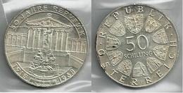 AUSTRIA 1968 - REPUBLIK - 50 Schilling SPL / FDC - Argento / Argent / Silver - Confezione In Bustina - Austria