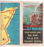MESSINA ALI MARINA TERME GRANATA CASSIBILI DEPLIANT PUBBLICITARIO CON DISEGNO ANNI 50 - Italia