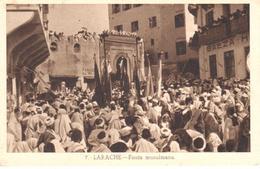 POSTAL   LARACHE  -MARRUECOS  -FIESTA MULSUMANA - Marruecos