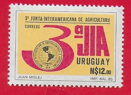 URUGUAY MNH - 1986 3rd Anniversary Inter-American Agriculture Co-operation Institute Meeting - 12 N$ - Michel UY 1723 - Uruguay
