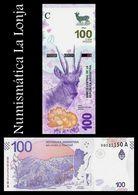 Argentina 100 Pesos Taruca 2018 Pick New Design SC UNC - Argentine