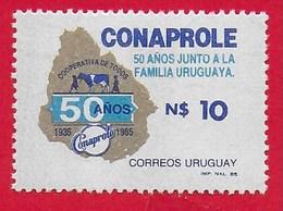 URUGUAY MNH - 1986  50th Anniversary Of The Conaprole Milk And Cattle Co-operative - 10 N$ - Michel UY 1726 - Uruguay