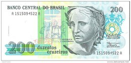 Brazil - Pick 229 - 200 Cruzeiros 1990 - Unc - Brasile