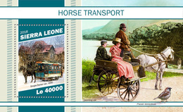 SIERRA LEONE 2018 - Sparrow, Horse Transport S/S. Official Issue - Moineaux