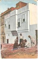 POSTAL   ALGER (ARGELIA)  MAISON MAURESQUE -ARABES JOUANT - Argelia