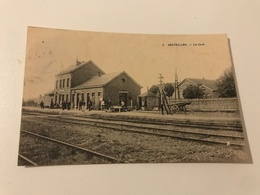 Carte Postale Ancienne Senzeilles – La Gare - Cerfontaine
