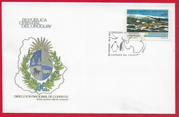 "URUGUAY - Busta FDC  Uruguayan Antarctic Station ""Artigas"" - 28 - 09 - 1987 - Michel  UY 1770 - Uruguay"