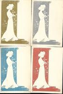 Illustrateur  Femmes En Relief 4  Cartes Gaufrées  Superbes - Illustrators & Photographers