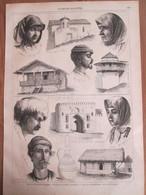 Gravure  1869    Cahétie  Géorgie - Types De La Transcaucasie - Jeune Georgienne Géorgiens Tbilissi Kakhétie Télavi - Géorgie