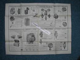 """Affichette """"AUTO ACCESSOIRES"""" 1910/1920 Env. Phares- Bougies- Suspensions  0,50X0,65  TBE - Automobile"""