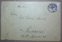 Germania Reich 1887 Unif.31 On Cover 22/10/87 VF/F - Alemania