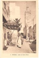 POSTAL   TETUAN  -MARRUECOS  -CALLE DEL BARRIO MORO - Marruecos