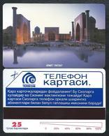UZBZEKISTAN 1 First Card 25u View Uzbekistan MINT URMET NEUVE - Uzbekistan