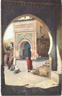 POSTAL   TETUAN  -MARRUECOS  - ENTRADA POR LA PUERTA DE CEUTA - Marruecos