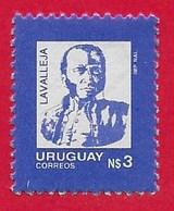 URUGUAY MNH - 1987 General Juan Antonio Lavalleja - 3 N$ - Michel UY 1765 - Uruguay