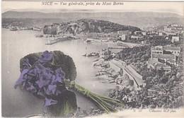 F06-185 NICE - VUE GENERALE PRISE DU MONT BORON - COLLECTIONS RCP PHOT. - BOUQUET DE FLEURS 1er PLAN - Sets And Collections
