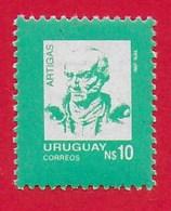 URUGUAY MNH - 1987 General José Artigas - 10 N$ - Michel UY 1761 - Uruguay