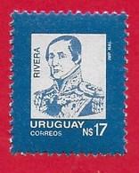 URUGUAY MNH - 1987 General Fructuoso Rivera - 17 N$ - Michel UY 1763 - Uruguay