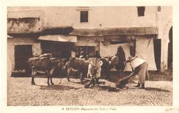 POSTAL   TETUAN  -MARRUECOS  - PLAZUELA DEL SUK EL FUKI - Marruecos