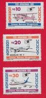 URUGUAY MNH - 1987 50th Anniversary Of The Pluna National Airline - 10 20 30 N$ - Michel UY 1766 - 67 - 69 - Uruguay