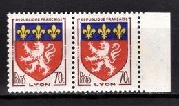 FRANCE 1958 - PAIRE Y.T. N° 1181 - NEUFS** - Francia