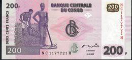 CONGO P99 200 FRANCS 2007 # NC/H    UNC. - Congo