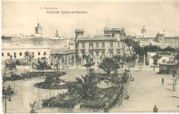 POSTAL   TETUAN  -MARRUECOS  - PLAZA DE ESPAÑA  (FOTO J. BERINGOLA) - Marruecos