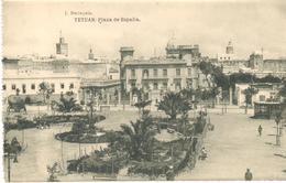 POSTAL   TETUAN  -MARRUECOS  - PLAZA DE ESPAÑA  (FOTO J. BERINGOLA) - Otros