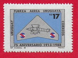 URUGUAY MNH - 1988 75th Anniversary Of The Air Force - 17 N$ - Michel UY 1780 - Uruguay