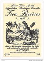 Etiquette   RHUM TROIS RIVIERES  Rhum Vieux Agricole 1977 - 43° 70cl - MARTINIQUE - - Rhum