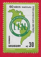 URUGUAY MNH - 1988 60th Anniversary Of The Inter-American Institute For The Child - 30 N$ - Michel UY 1781 - Uruguay