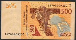 W.A.S. TOGO  P819Tg 500 FRANCS 2018  UNC. - Togo