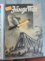 JUNGE WELT GERMANY GERMAN 1941 WWII WW2 MAGAZINE NEWSPAPERS NEWS YOUTH ZEITUNG DEUTSCH DEUTSCHLAND  ZEPPELIN SHIP FLAG - 1939-45